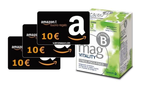 Mag vitality ti regala un buono amazon da 10 euro for Promozione buono regalo amazon