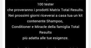 matrix total results tester