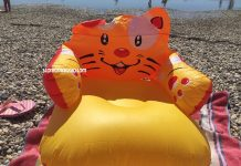poltrona tigre gonfiabile