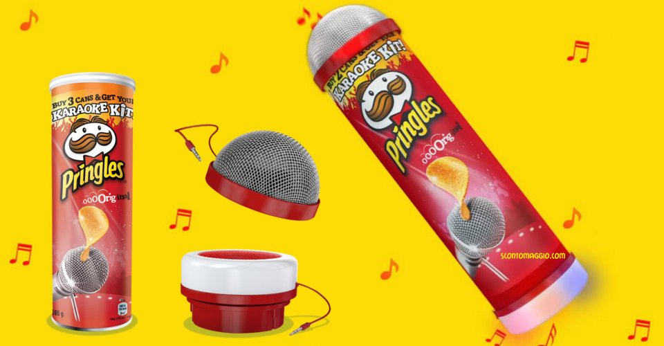 pringles karaoke kit come richiederlo scontomaggio. Black Bedroom Furniture Sets. Home Design Ideas