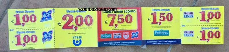 pampers baby dry  35 euro in buoni sconto e shopping card