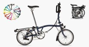 brompton bike blue tempest