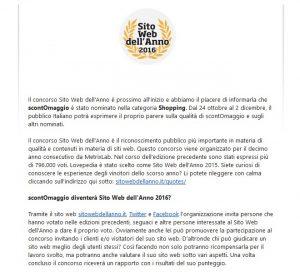 sito web dell'anno 2016