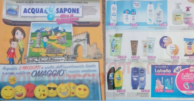 Anteprima volantino acqua e sapone e la saponeria 25 for Volantino acqua e sapone novembre 2017