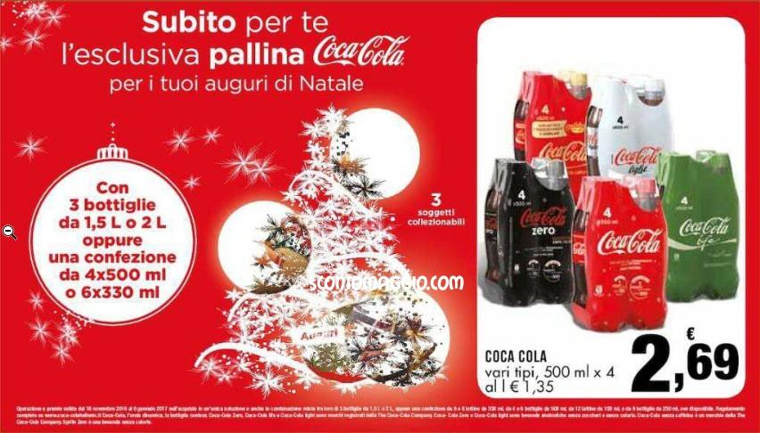 Pallina coca cola di natale in omaggio concorso per for Buoni omaggio amazon