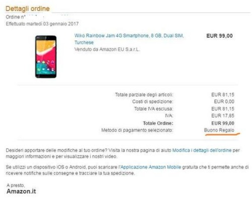 wiko rainbow amazon gratis