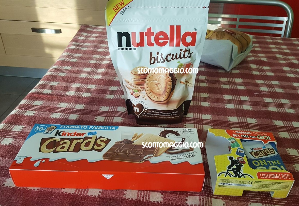 nutella biscuits kinder cards