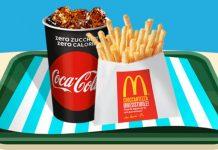 mcdonald's coca-cola patatine