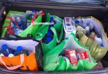 spesa sacchetti bagagliaio