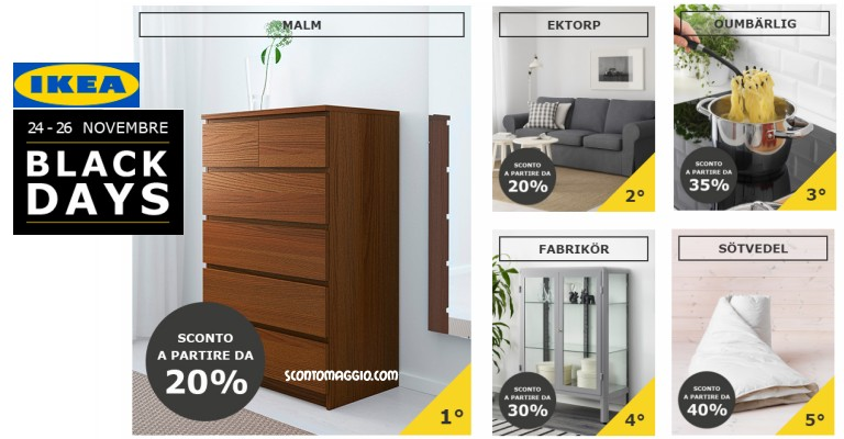 ikea black days vota i prodotti e saranno in offerta scontomaggio. Black Bedroom Furniture Sets. Home Design Ideas