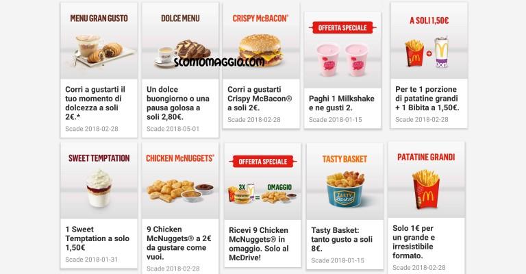 Mcdonald 39 s la lista dei coupon disponibili scontomaggio for Offerte di lavoro a forli da privati