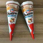 kinder bueno ice cream cone