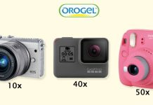 orogel fotocamere canon gopro instax