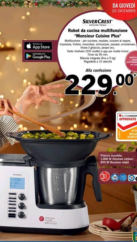 Lidl Monsieur Cuisine Plus A Soli 229 Euro Scontomaggio