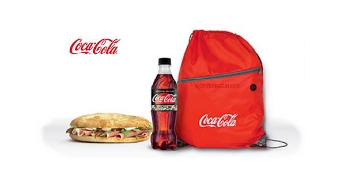 in vendita 16ca6 f7546 Zainetto multiuso Coca-Cola in omaggio da Eni Café ...
