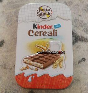 kinder cereali box
