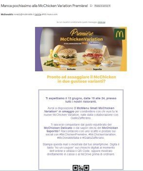 mcchicken variation premiere coupon