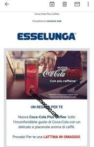 esselunga coca cola plus coffee