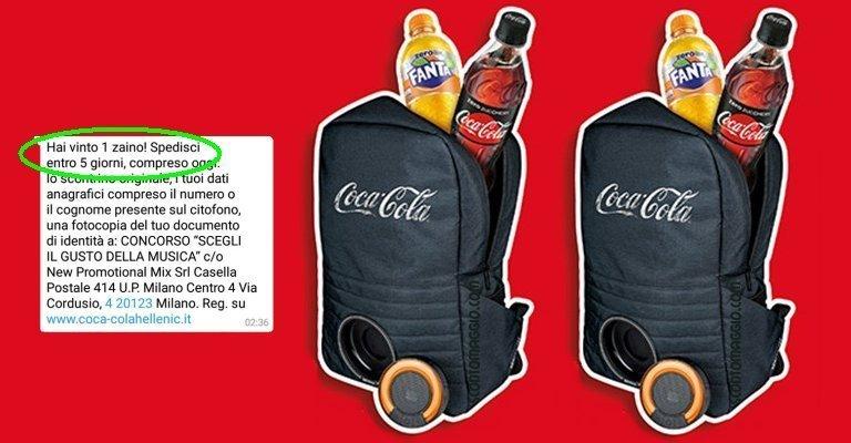 super popolare 99eec 7aba7 1.000 zaini Coca-Cola con cassa bluetooth: come partecipare ...