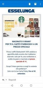 caffe starbucks esselunga