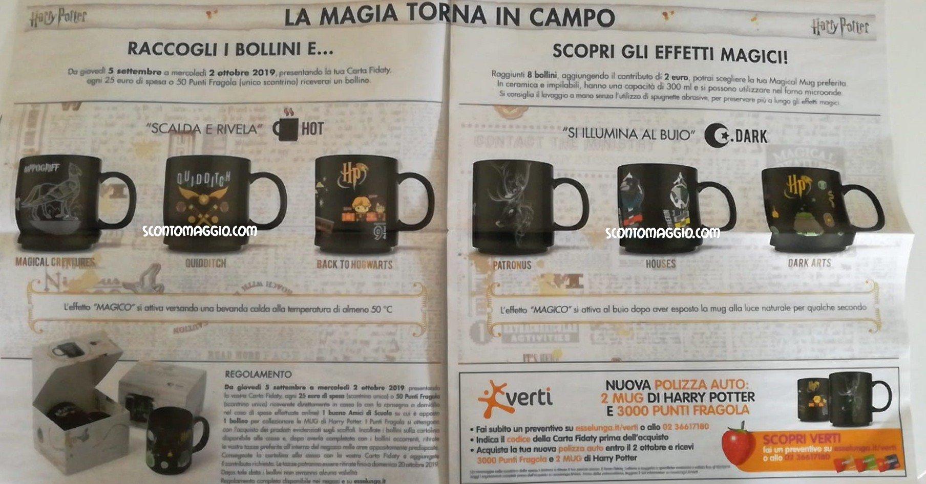 Calendario Dellavvento Harry Potter 2019.Harry Potter Magical Mug Tazze Scontomaggio