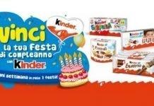 kinder festa compleanno