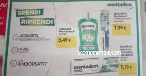 Pi spendi pi riprendi mentadent rimborso su dentifricio for Volantino acqua e sapone sicilia
