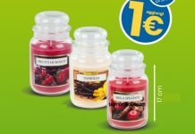 Eurospin candela profumata in giara