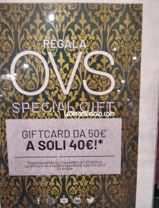 OVS gift card
