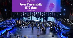 Amazon promo Sanremo 2020