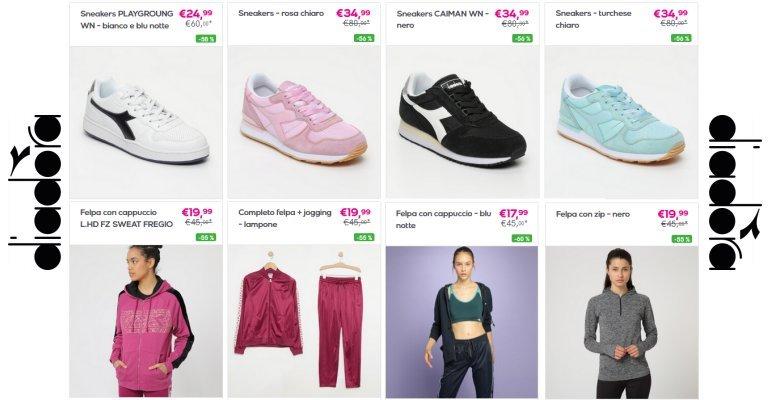 Diadora sconto 60%: scarpe e abbigliamento donna, uomo