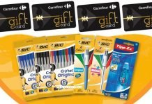bic tipp ex - gift card carrefour
