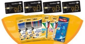 bic tipp ex - gift card carrefour