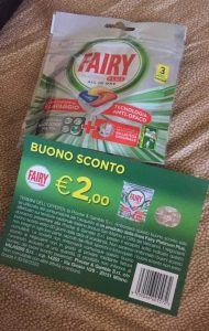 Campione Fairy e buono sconto 2 euro