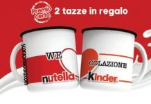 nutella kinder tazze