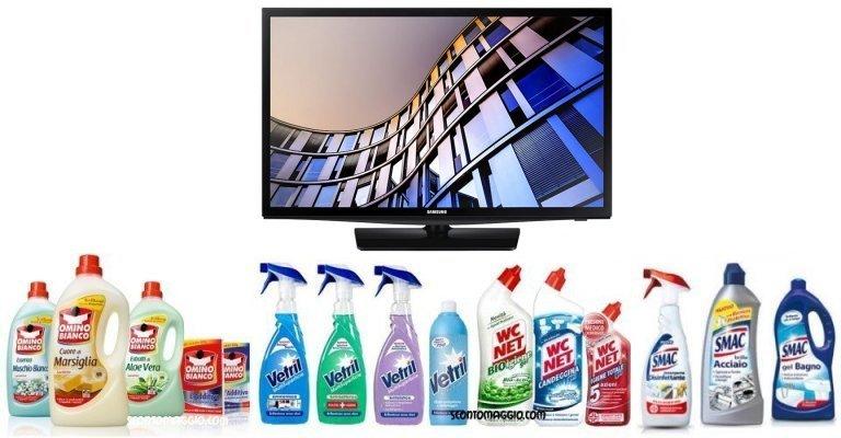 Guarda che pulito: vinci 50 TV Samsung! - scontOmaggio