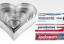 tagliabiscotti cuore sensodyne parodontax iodosan