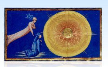 """tela pittorica """"Dante e Beatrice in Paradiso"""""""