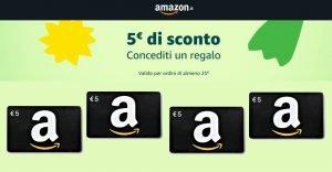 Amazon 5 euro di sconto