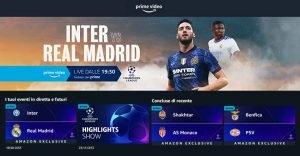 Inter - Real Madrid su Prime Video