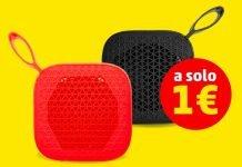 PennyMarket Speaker Bluetooth rosso e nero